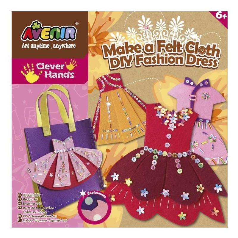 Avenir Набор для поделок из ткани Модное платье 402 полиэстер швейных ниток шнуры для ткани или поделок судов зелено жёлтые 0 1 мм около 120 м рулон 10 рулонов мешок
