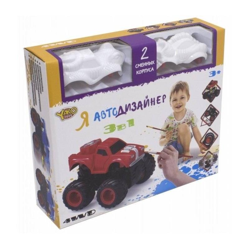Yako Toys Игровой набор 3 в 1 Я Автодизайнер hasbro play doh игровой набор из 3 цветов цвета в ассортименте с 2 лет