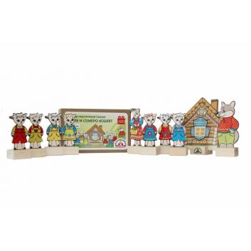 Игрушки, Игровой набор Персонажи сказки Волк и семеро козлят Краснокамская игрушка 471447, фото