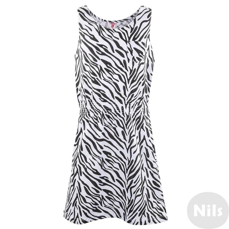 ПлатьеБелое платье марки CrocKid коллекции Optop для девочек. Летнее платье без рукавов выполнено из тонкого хлопкового трикотажа с принтом зебра, украшено нагрудным кармашком. Пояс присобран на резиночках.<br><br>Размер: 8 лет<br>Цвет: Белый<br>Рост: 128<br>Пол: Для девочки<br>Артикул: 614379<br>Страна производитель: Узбекистан<br>Сезон: Весна/Лето<br>Состав: 100% Хлопок<br>Бренд: Россия