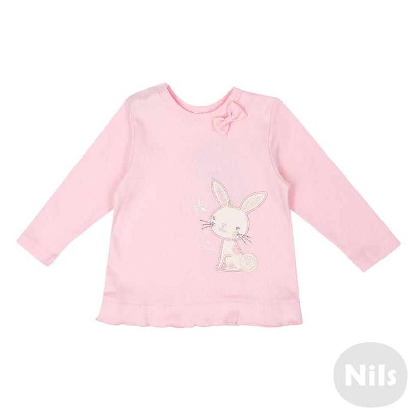 Комплект футболок 2 шт.Комплект из двух футболок с длинным рукавом розового цвета марки CrocKid для девочек. Футболки выполнены из мягкого хлопкового трикотажа, имеют кнопочную застежку на плече. Кремовая футболка с принтом в цветочек украшена бантиком у ворота, розовая футболка украшена вышивкой с зайчиком.<br><br>Размер: 9 месяцев<br>Цвет: Розовый<br>Рост: 74<br>Пол: Для девочки<br>Артикул: 614313<br>Страна производитель: Узбекистан<br>Сезон: Всесезонный<br>Состав: 100% Хлопок<br>Бренд: Россия<br>Вид застежки: Кнопки