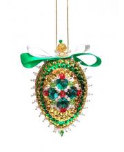 Набор для творчества Новогодняя шишка Изумрудная Волшебная мастерская