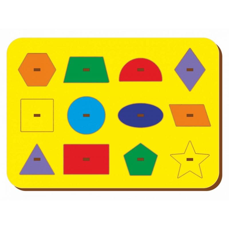 Купить Рамка-вкладыш Монтессори геометрия 1, Woodland, от 3 лет, Не указан, 471922, Россия
