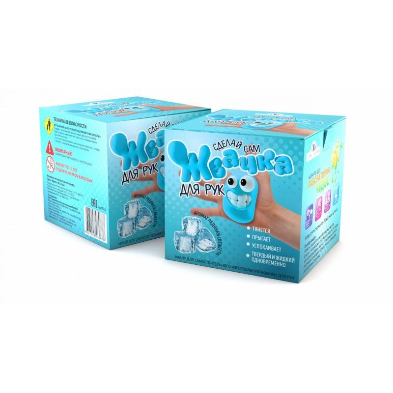 Инновации для детей Набор для опытов Жвачка для рук Ледяная свежесть