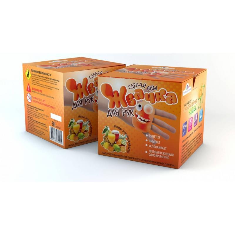 Инновации для детей Набор для опытов Жвачка для рук Тропический фреш набор для изготовления мыла инновации для детей мыльная мастерская тропический микс 744