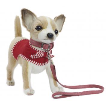 Игрушки, Мягкая игрушка Чихуахуа в красном 27 см Hansa 698977, фото