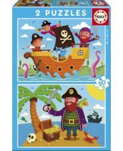 Пазл Пираты 2 шт по 20 деталей Educa