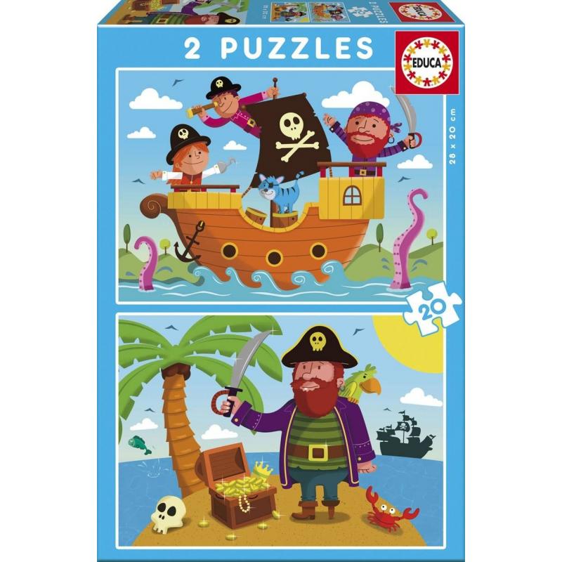 Пазл Пираты 2 шт по 20 деталей