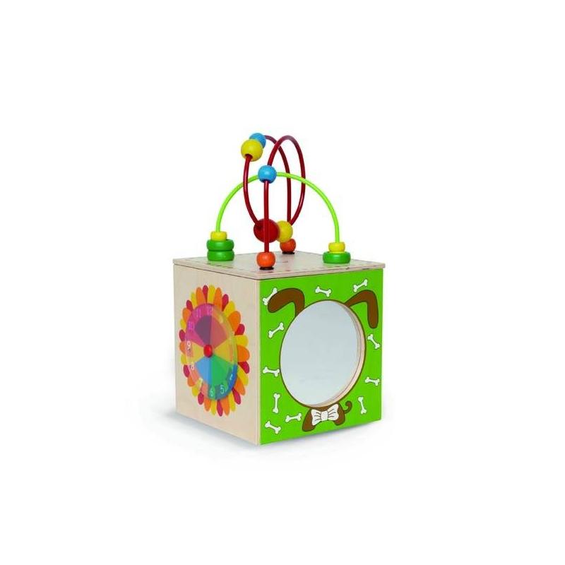 Hape Деревянная игрушка Активный куб каталки hape игрушка развивающая деревянная каталка ежик