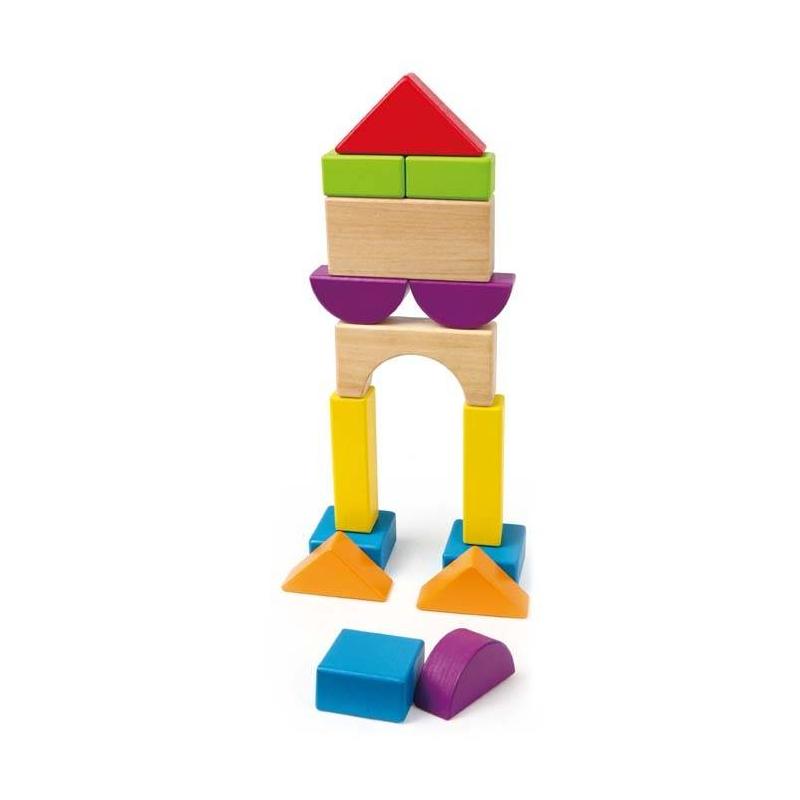 Hape Деревянная игрушка Конструктор сортеры hape игрушка развивающая деревянная пирамидка колышки
