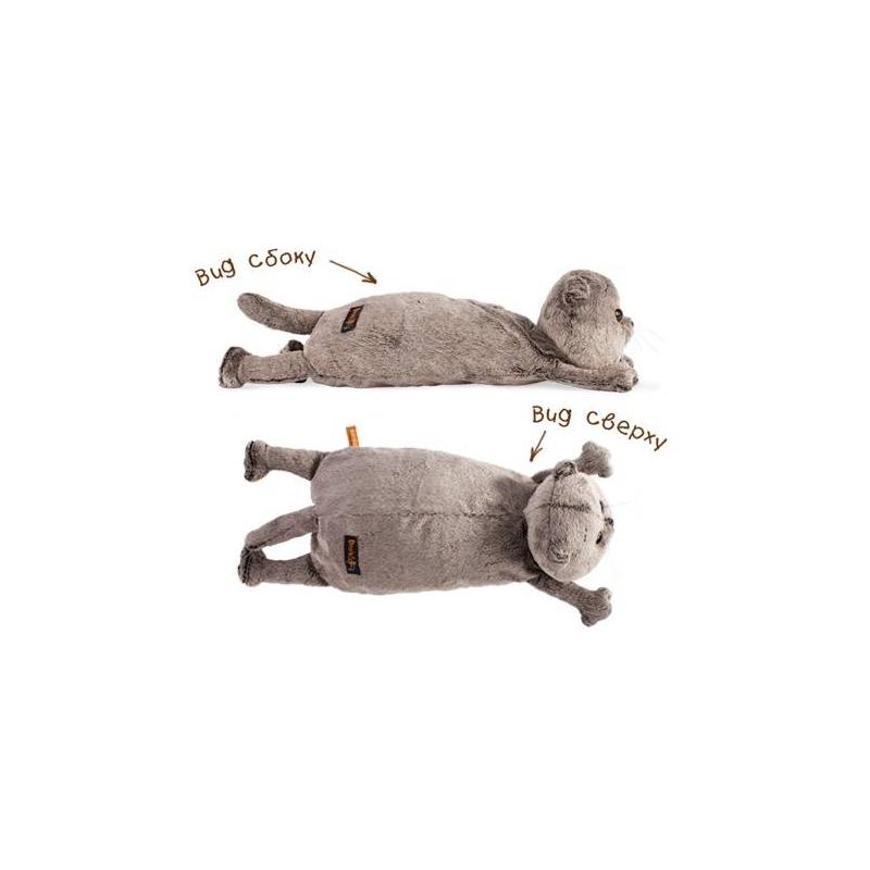 BUDI BASA Мягкая игрушка Кот-подушка оранжевый кот подушка игрушка антистресс кот спортсмен