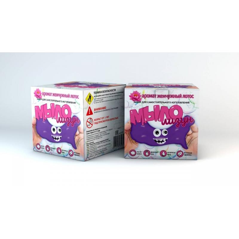 Инновации для детей Набор для опытов Мыло-лизун Жемчужный лотос