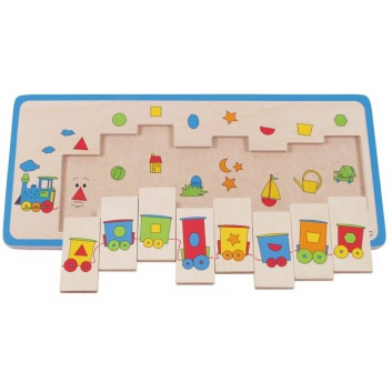 Игрушки, Развивающий пазл Паравозик 8 деталей Beleduc 640301, фото