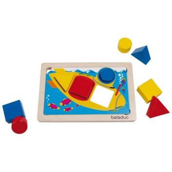 Игрушки, Развивающая игра ГеоСортер Beleduc 657099, фото