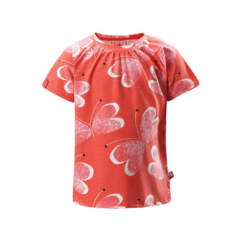 Купить Футболка Sampi, REIMA, Красный, 4 года, 104, Для девочки, 111798, Всесезон, Китай