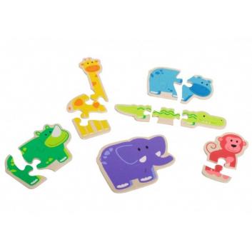 Игрушки, Развивающая игра-шнуровка Животные Beleduc 472743, фото