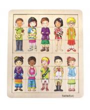Развивающий пазл Дети 30 деталей Beleduc