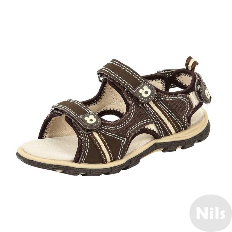 СандалииКоричневые сандалии марки Conguitos для мальчиков. Открытые сандалии выполнены из прочного текстиля и искусственной кожи, все ремешки регулируются липучками. Мягкая стелька из натуральной кожи обладает амортизирующими свойствами, снижает нагрузку на ножки. Прочная подошва с рельефным рисунком не скользит.<br><br>Размер: 21<br>Цвет: Коричневый<br>Пол: Для мальчика<br>Артикул: 613709<br>Страна производитель: Испания<br>Сезон: Весна/Лето<br>Материал верха: Текстиль / Иск. кожа<br>Материал подкладки: Текстиль<br>Материал стельки: Натуральная кожа<br>Материал подошвы: ТПР (термопластичная резина)<br>Бренд: Испания