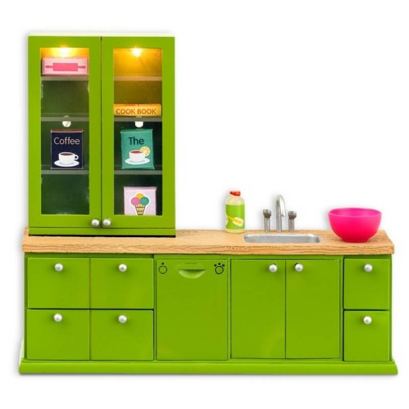 Lundby Набор кукольной мебели Смоланд Кухонный набор с буфетом