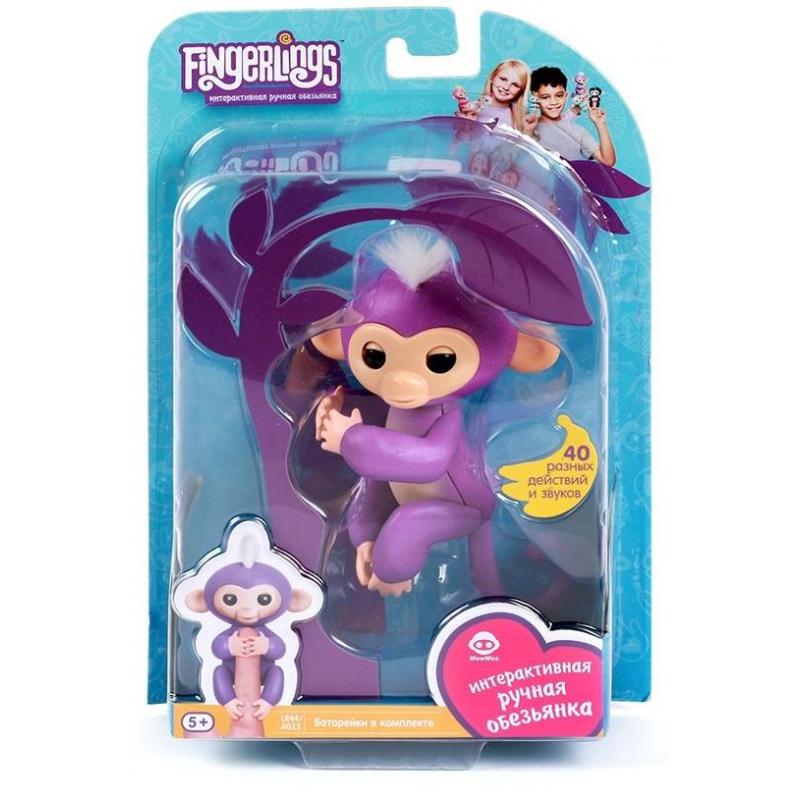 WowWee Интерактивная игрушка Обезьянка Миа fancy сумка рюкзак детская обезьянка
