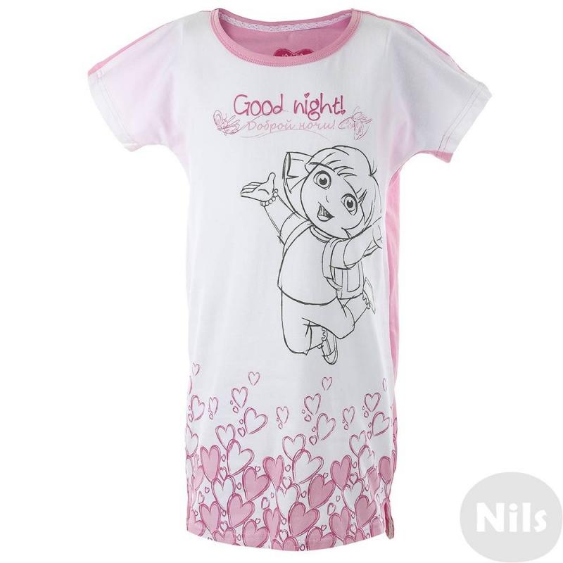 Ночная рубашкаНочная рубашка бело-розового цвета марки Button Blue для девочек. Ночная рубашка с изображением любимой героини всех девочек - Даши-Путешественницы. Рубашка выполнена из хлопка, приятна к телу.<br><br>Размер: 3 года<br>Цвет: Розовый<br>Рост: 98<br>Пол: Для девочки<br>Артикул: 636729<br>Бренд: Россия<br>Страна производитель: Китай<br>Сезон: Всесезонный<br>Состав: 95% Хлопок, 5% Эластан<br>Лицензия: Даша-путешественница