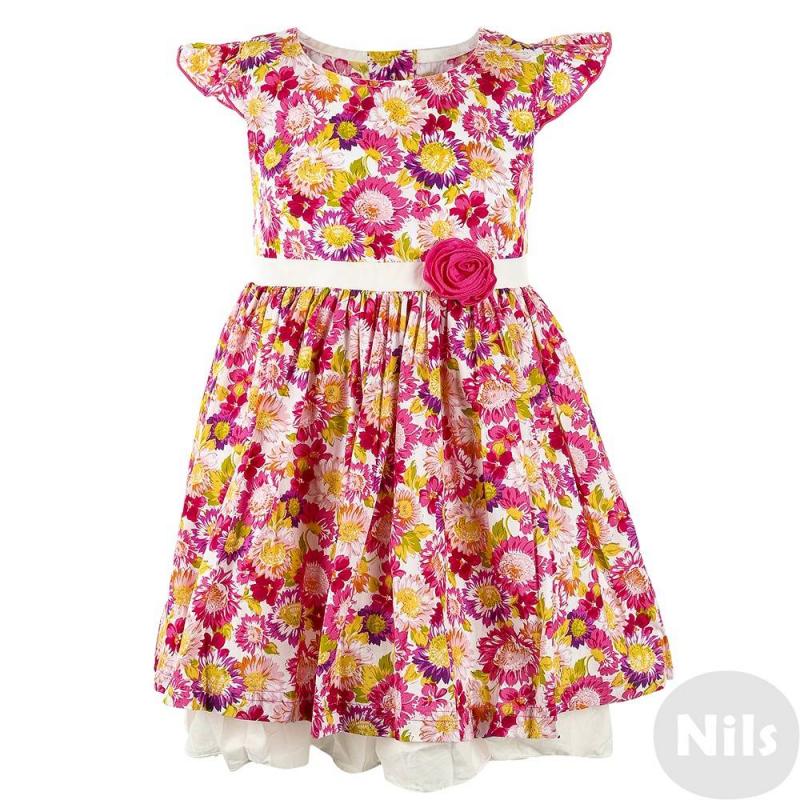 ПлатьеПлатье розовогоцвета с ярким цветочным узором для девочек LP Collection. Платье выполнено из чистого хлопка, дополнено подкладом. Застегивается на пуговицы на спине и регулируется по талии при помощи банта на поясе. Пояс украшен декоративным цветком.<br><br>Размер: 6 лет<br>Цвет: Розовый<br>Рост: 116<br>Пол: Для девочки<br>Артикул: 615101<br>Страна производитель: Таиланд<br>Сезон: Весна/Лето<br>Состав: 100% Хлопок<br>Бренд: Таиланд<br>Вид застежки: Пуговицы