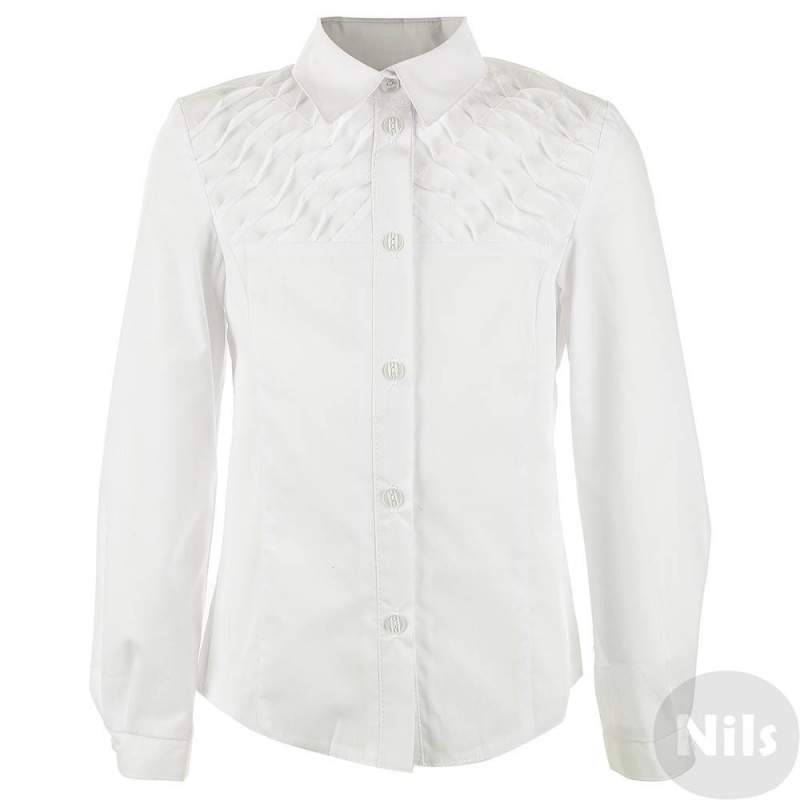 БлузкаКлассическая белая блузка для девочек от российского производителя Лидер выполнена из хлопка, имеет классический отложной воротничок, верх блузки отделан защипами. Блузка будет незаменима какв повседневной школьной жизни, так и для любого мероприятия.<br><br>Размер: 8 лет<br>Цвет: Белый<br>Размер: 128/64<br>Пол: Для девочки<br>Артикул: 615790<br>Страна производитель: Россия<br>Сезон: Всесезонный<br>Состав: 70% Хлопок, 30% Полиэстер<br>Бренд: Россия<br>Воротник: Классический<br>Рукава: Длинные, без манжет<br>Покрой: Приталенный