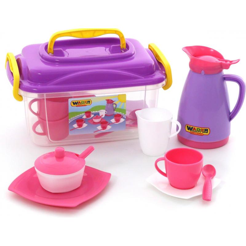 Купить Набор детской посуды Алиса, Wader, от 3 лет, Для девочки, 473253