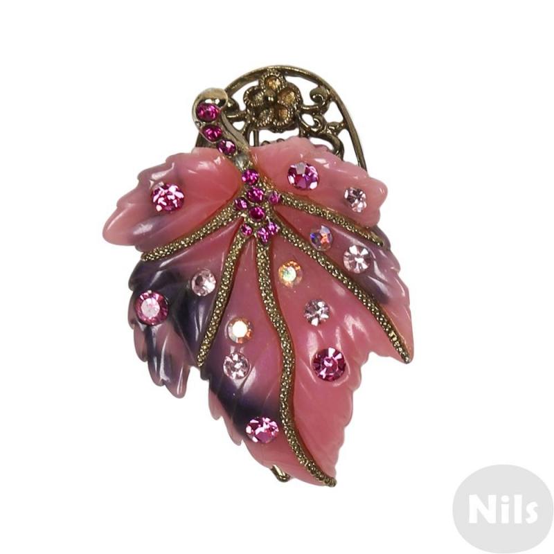 Заколка-крабЗаколка-краб розовогоцвета марки Infinity Art для девочек станет замечательным украшением прически. Нарядная заколка в виде листочка с резными вставками из металла золотого цвета украшена россыпью сверкающих стразов. Размер 5х3 см.<br><br>Цвет: Розовый<br>Пол: Для девочки<br>Артикул: 615687<br>Страна производитель: Китай<br>Размер: Без размера
