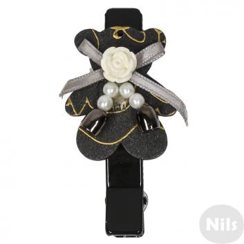 Аксессуары, Заколка для волос Infinity Art (черный)615726, фото