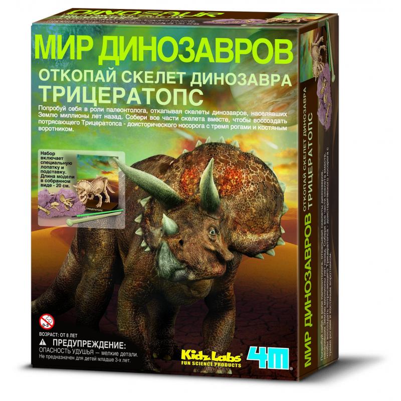 4М Набор Скелет Трицератопса