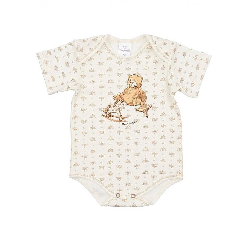 БодиБодибежевогоцвета марки Мамуляндия для малышей. Боди с короткимрукавом выполнено из мягкого хлопкового трикотажа,имеет удобную кнопочную застежку снизу. Особыйкрой плечиков облегчает процесс переодевания малыша. Боди украшено милым орнаментом и рисунком с изображением медвежонка и лошадки.<br><br>Размер: 12 месяцев<br>Цвет: Бежевый<br>Рост: 80<br>Пол: Не указан<br>Артикул: 616906<br>Страна производитель: Россия<br>Сезон: Всесезонный<br>Состав: 100% Хлопок<br>Бренд: Россия<br>Вид застежки: Кнопки