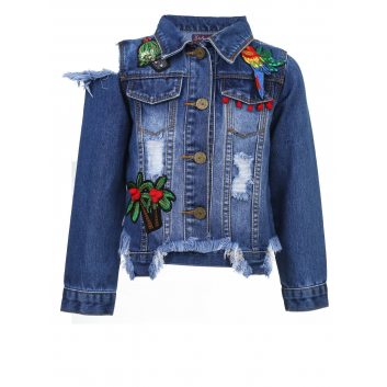 Девочки, Джинсовая куртка Stilnyashka (синий)107447, фото