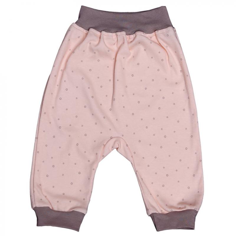 БрючкиБрючки нежно-розового цвета марки Мамуляндия для девочек.<br>Штанишкивыполнены из мягкого хлопкового трикотажа с узором в кружочек, пояс и манжеты контрастного серого цвета. Широкий эластичный пояс не давит и обеспечивает комфорт малышу.<br><br>Размер: 18 месяцев<br>Цвет: Розовый<br>Рост: 86<br>Пол: Для девочки<br>Артикул: 616813<br>Страна производитель: Россия<br>Сезон: Всесезонный<br>Состав: 100% Хлопок<br>Бренд: Россия
