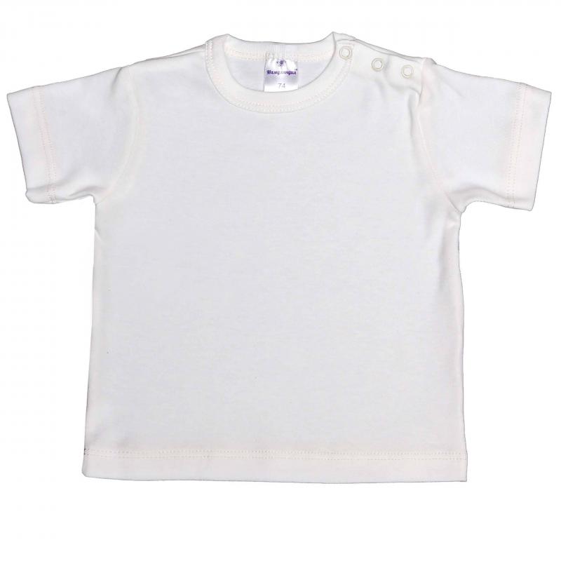 ФутболкаФутболка кремового цвета марки Мамуляндия для мальчиков. Простая однотонная футболка с коротким рукавом выполнена из качественного хлопкового трикотажа. Для удобства переодевания малыша футболка застегивается на три кнопки на плече.<br><br>Размер: 6 месяцев<br>Цвет: Белый<br>Рост: 68<br>Пол: Для мальчика<br>Артикул: 616838<br>Страна производитель: Россия<br>Сезон: Всесезонный<br>Состав: 100% Хлопок<br>Бренд: Россия<br>Вид застежки: Кнопки