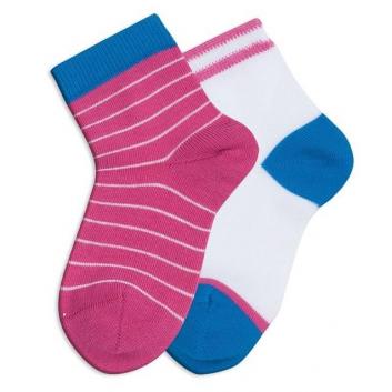 Девочки, Комплект носков Stripes 2 пары Teller (малиновый)115874, фото