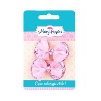 Аксессуары, Комплект зажимов для волос Сияние 2 шт Mary Poppins (розовый)116921, фото