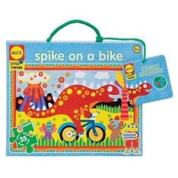 Игрушки, Большой пазл Спайк на велосипеде 35 деталей ALEX 617587, фото
