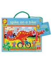 Большой пазл Спайк на велосипеде