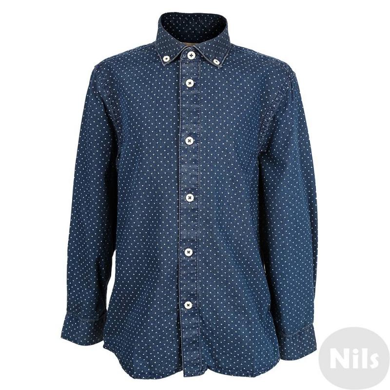 РубашкаРубашка темно-синего цвета марки MAYORAL для мальчиков. Рубашка выполнена из стопроцентного хлопка, темно-синий материал с рисунком имеет легкую декоративную потертость. Застегивается рубашка на пуговицы.<br><br>Размер: 7 лет<br>Цвет: Темносиний<br>Рост: 122<br>Пол: Для мальчика<br>Артикул: 617508<br>Страна производитель: Бангладеш<br>Сезон: Осень/Зима<br>Состав: 100% Хлопок<br>Бренд: Испания<br>Рукава: Длинные, манжеты