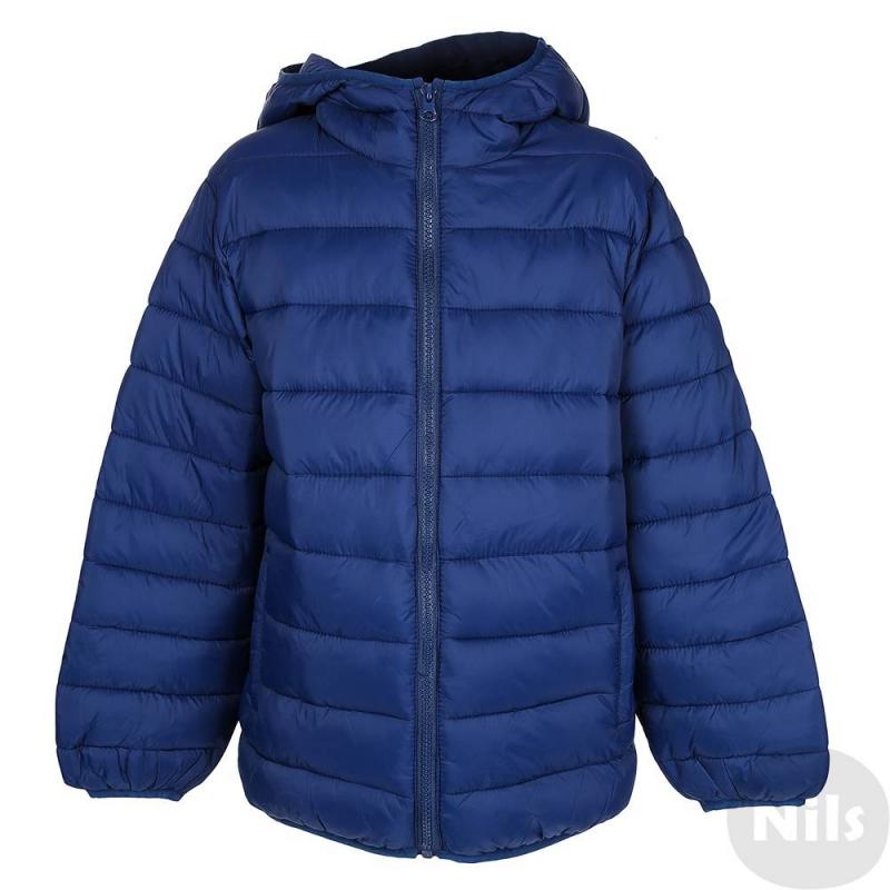 КурткаКуртка темно-синего цвета марки MAYORAL для мальчиков. Демисезонная куртка с легким утеплением имеет капюшон, застегивается на молнию. По бокам куртка имеет два кармана.Манжеты, низ и капюшон окантованы эластичной резинкой. Куртка прекрасно подойдет на прохладную осеннюю погоду.<br><br>Размер: 10 лет<br>Цвет: Темносиний<br>Рост: 140<br>Пол: Для мальчика<br>Артикул: 617564<br>Страна производитель: Китай<br>Состав: 100% Полиамид<br>Бренд: Испания<br>Наполнитель: 100% Полиэстер