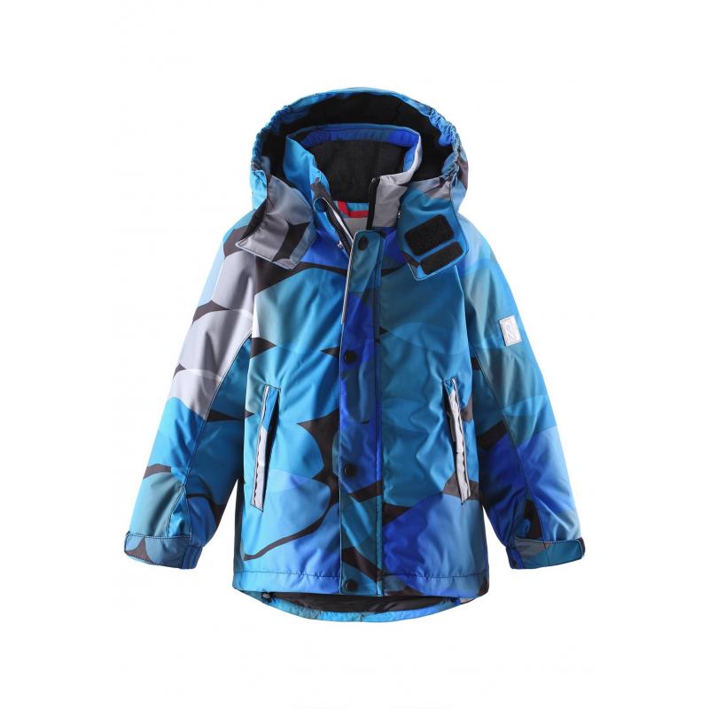 КурткаКуртка голубогоцвета марки REIMA серииREIMA TECдля мальчиковcшита из водо- и ветронепроницаемого дышащегоматериала, который отталкивает грязь и влагу. Мембрана свыше 15000 мм.<br>Все швы куртки проклеены, водонепроницаемы. Внутри куртки ряд кнопок PlayLayers для пристегивания промежуточного слоя. Безопасный съемный капюшон на кнопках отделан мягкой подкладкойвнутри. Манжеты регулируются липучками. Есть два кармана на молнии и внутренний кармашек.Светоотражающиедетали отвечают всем нормам безопасности.<br>Куртка сохраняет свои свойства при многократной стирке в стиральной машине, быстро сохнет. Легкие загрязнения можно протереть влажной губкой или смытьпод душем.<br><br>Размер: 5 лет<br>Цвет: Голубой<br>Рост: 110<br>Пол: Для мальчика<br>Артикул: 618417<br>Страна производитель: Китай<br>Сезон: Осень/Зима<br>Состав верха: 100% Полиэстер<br>Состав подкладки: 100% Полиэстер<br>Бренд: Финляндия<br>Наполнитель: 100% Полиэстер<br>Покрытие: Полиуретан<br>Температура: от 0° до -20°<br>Вес утеплителя: 160 г