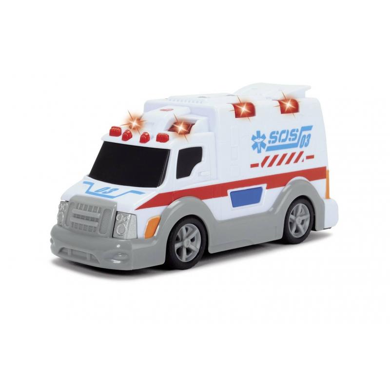 Dickie Toys Игрушка Машина скорой помощи со светом и звуком dickie грузовик со светом и звуком 15см 3302005