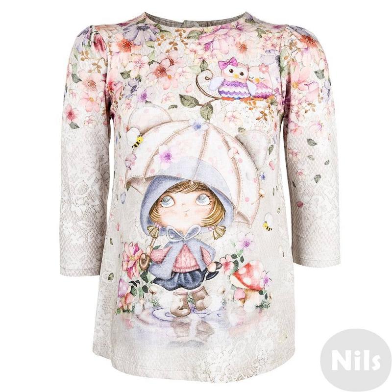 Платье - MAYORALПлатье серо-голубогоцвета марки MAYORAL для девочек. Платье с длинным рукавом выполнено из плотного мягкого хлопкового трикотажа с небольшим добавлением эластана, украшено принтом с имитацией кружева по всему платью, спереди большое изображение сказочной девочки под зонтиком. Застегивается платье на кнопки на спине.<br><br>Размер: 9 месяцев<br>Цвет: Голубой<br>Рост: 74<br>Пол: Для девочки<br>Артикул: 617832<br>Страна производитель: Турция<br>Сезон: Осень/Зима<br>Состав: 95% Хлопок, 5% Эластан<br>Бренд: Испания