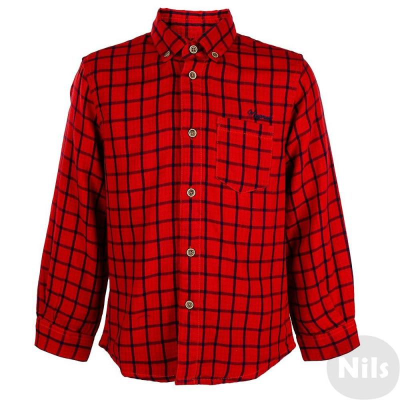РубашкаРубашка красногоцвета марки MAYORAL для мальчиков. Рубашка с длинным рукавом выполнена из стопроцентного хлопка, имеет рисунок в синююклетку. Воротник классический, пристегивается на пуговицы. Застегивается рубашка также на пуговицы. Спереди рубашка имеет небольшой карман на груди.<br><br>Размер: 3 года<br>Цвет: Красный<br>Рост: 98<br>Пол: Для мальчика<br>Артикул: 617977<br>Страна производитель: Индия<br>Сезон: Осень/Зима<br>Состав: 100% Хлопок<br>Бренд: Испания