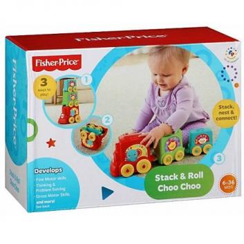 Кубики-блоки Паровозики Fisher-Price