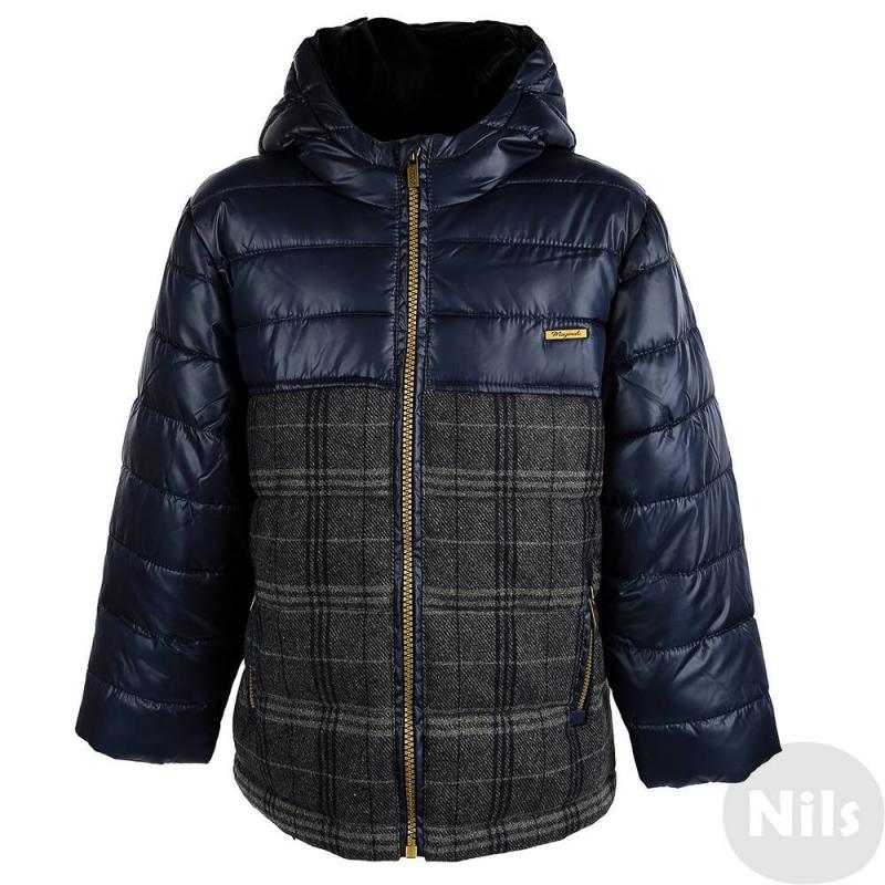 КурткаТемно-синяя осенняя куртка марки Mayoral для мальчиков. Куртка с капюшоном и двумя карманами на молнии отделана вставками из плотной шерстяной ткани в клеточку. На рукавах удобные внутренние манжеты. Куртка застегивается на молнию.<br><br>Размер: 9 лет<br>Цвет: Темносиний<br>Рост: 134<br>Пол: Для мальчика<br>Артикул: 619138<br>Страна производитель: Китай<br>Сезон: Осень/Зима<br>Состав: 85% Полиэстер, 10% Шерсть, 2% Акрил, 2% Вискоза, 1% Полиамид<br>Состав подкладки: 100% Полиэстер<br>Бренд: Испания<br>Вид застежки: Молния<br>Наполнитель: 100% Полиэстер