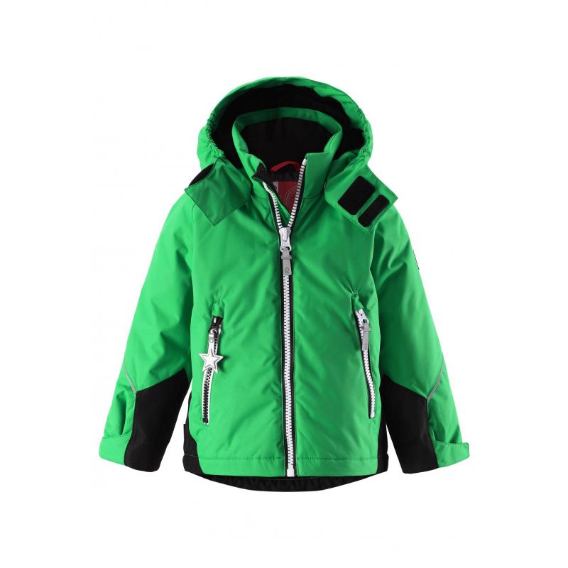 КурткаКуртка зеленогоцвета марки REIMA для мальчиков cшита из водо- и ветронепроницаемого дышащегоматериала, который отталкивает грязь и влагу. Мембрана свыше 10000 мм.<br>Основныешвы куртки проклеены, водонепроницаемы. Рукава и нижняя часть куртки усилены вставками из особо прочного материала.Безопасный съемный капюшон на кнопках отделан мягкой подкладкойвнутри. Манжеты регулируются липучками. Низ куртки регулируется шнурком со стопперами. Есть два кармана на молнии.Светоотражающиедетали отвечают всем нормам безопасности.<br>Куртка сохраняет свои свойства при многократной стирке в стиральной машине, быстро сохнет. Легкие загрязнения можно протереть влажной губкой или смытьпод душем.<br><br>Размер: 10 лет<br>Цвет: Зеленый<br>Рост: 140<br>Пол: Для мальчика<br>Артикул: 619519<br>Страна производитель: Китай<br>Сезон: Осень/Зима<br>Состав: 100% Полиэстер<br>Состав подкладки: 100% Полиэстер<br>Бренд: Финляндия<br>Наполнитель: 100% Полиэстер<br>Покрытие: Полиуретан<br>Температура: от 0° до -20°<br>Вес утеплителя: 160 г