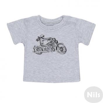 Малыши, Футболка Nice-Kid (серый)618998, фото