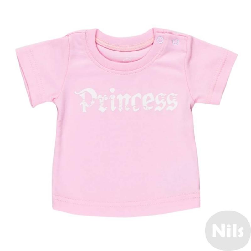 ФутболкаФутболка розовогоцвета маркиNice-Kid для девочек. Футболка с коротким рукавом выполнена из стопроцентного хлопка, украшена надписью Princess. Футболка имеет кнопочную застежку на плече для удобства переодевания малыша.<br><br>Размер: 12 месяцев<br>Цвет: Розовый<br>Рост: 80<br>Пол: Для девочки<br>Артикул: 618978<br>Страна производитель: Россия<br>Сезон: Всесезонный<br>Состав: 100% Хлопок<br>Бренд: Россия